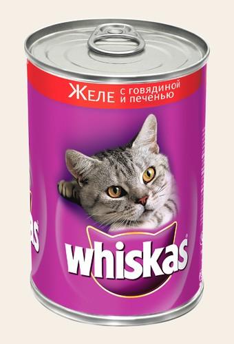 Корм Whiskas Пауч Паштет телятина 85g для кошек старше 7 лет 10156216/10117337/ACW23